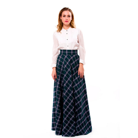 a9fb742c691 WBCTW Autumn Winter Skirts 6XL 7XL Plus Size England Style Long Pleated  Women Skirts High Waist