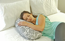 Luna Lullaby Nursing Pillow Cover - Grey and White Buffalo