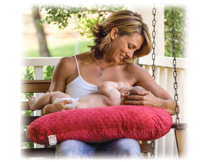 Luna Lullaby Nursing Pillow-Black & White Polka Dot