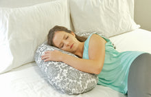 Luna Lullaby Nursing Pillow - Turquoise Dot