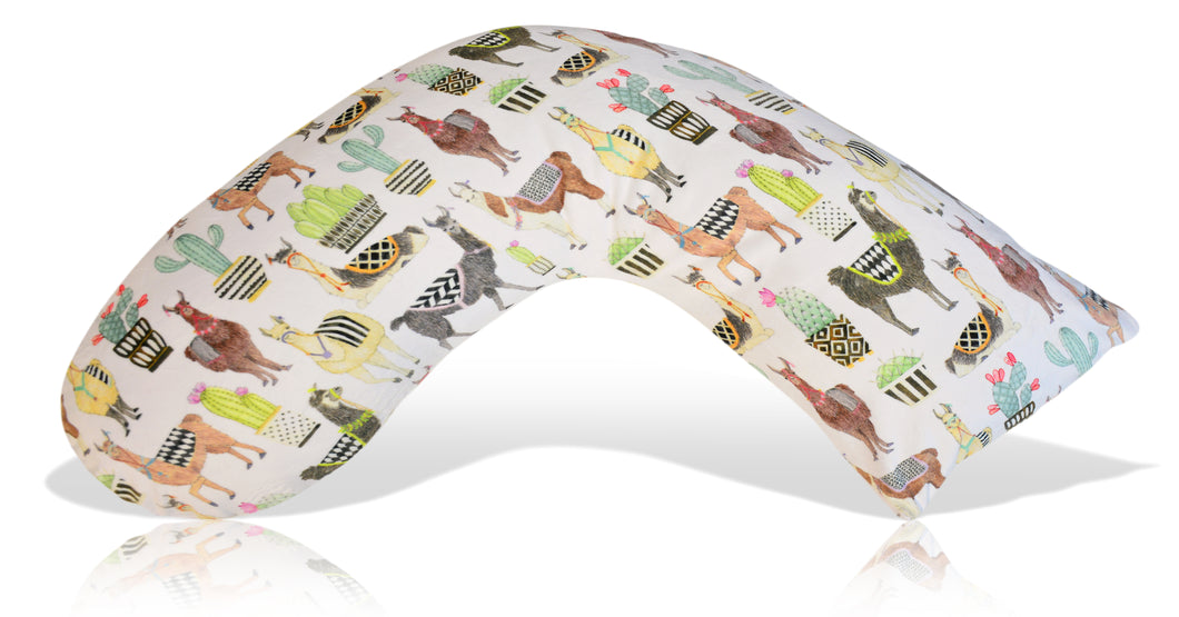 Luna Lullaby Nursing Pillow Cover, Lovely Llamas