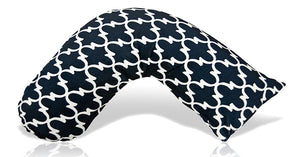 Luna Lullaby Nursing Pillow, Navy Lattice