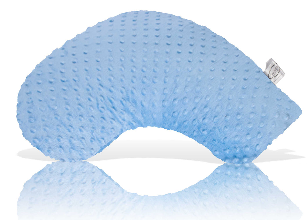 Luna Lullaby Travel Nursing Pillow - Blue Dot