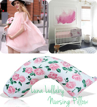 Luna Lullaby Nursing Pillow, Pink Rose
