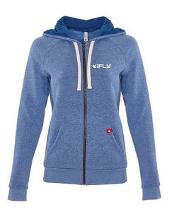 RED LABEL- ZIP HOODIE- Bay Blue