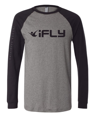 RAGLAN Heather Grey Black