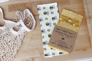 Zero Waste Beeswax wrap unpaper towel reusable mesh shopping bag