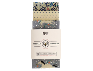 Beeswax Wrap Set of 3 - Purple Unicorn & Polka dots - Good Soul Shop