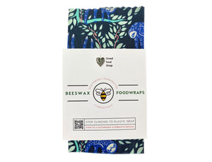 Beeswax Wrap Set of 3 - Purple Hanging Sloth (8 inch) - Good Soul Shop
