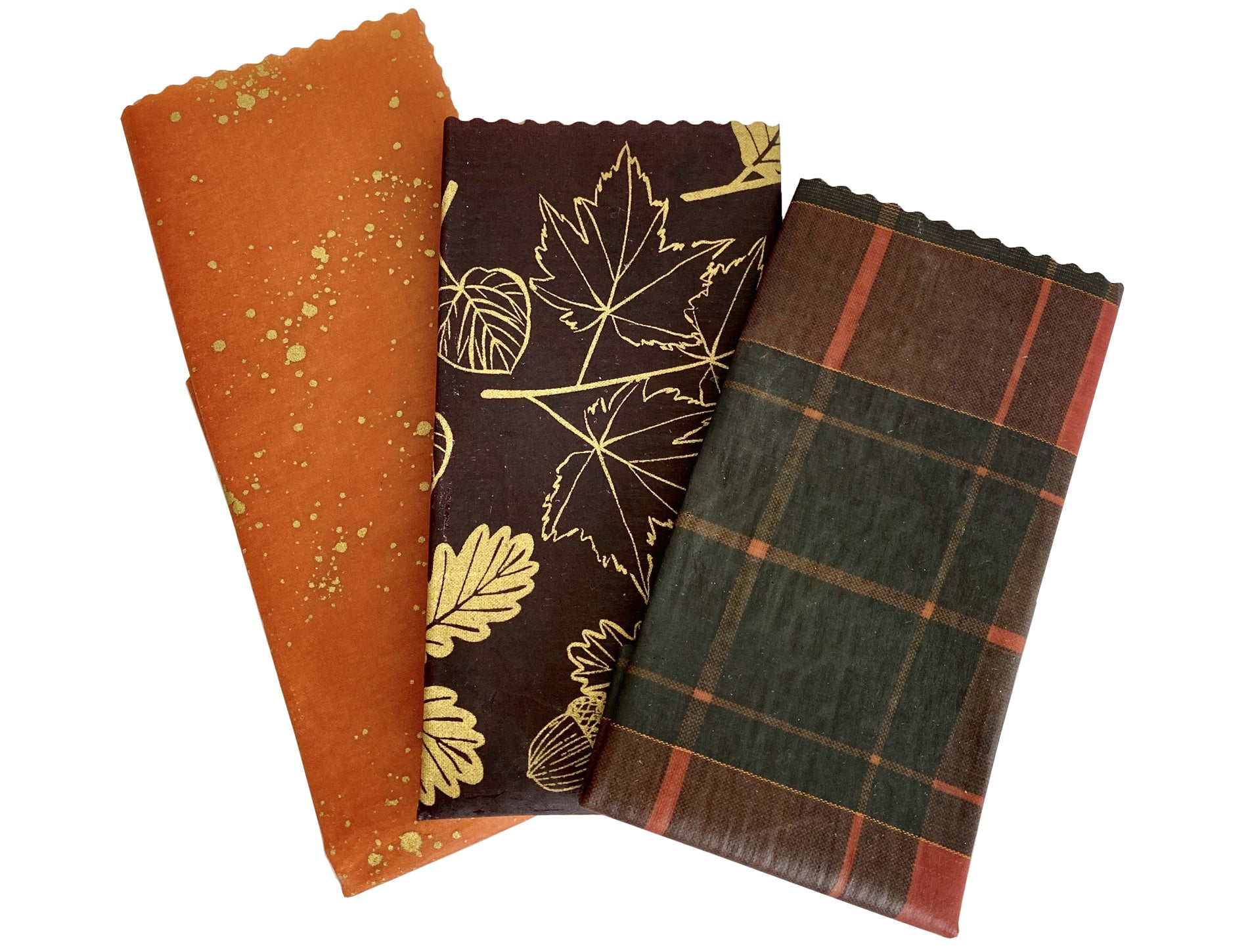 Fall Leaves + Plaid Beeswax Set - Good Soul Shop
