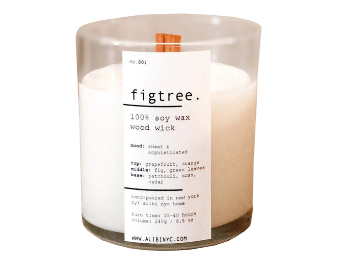 Figtree | 100% Soy Wooden Wick Candle - Good Soul Shop