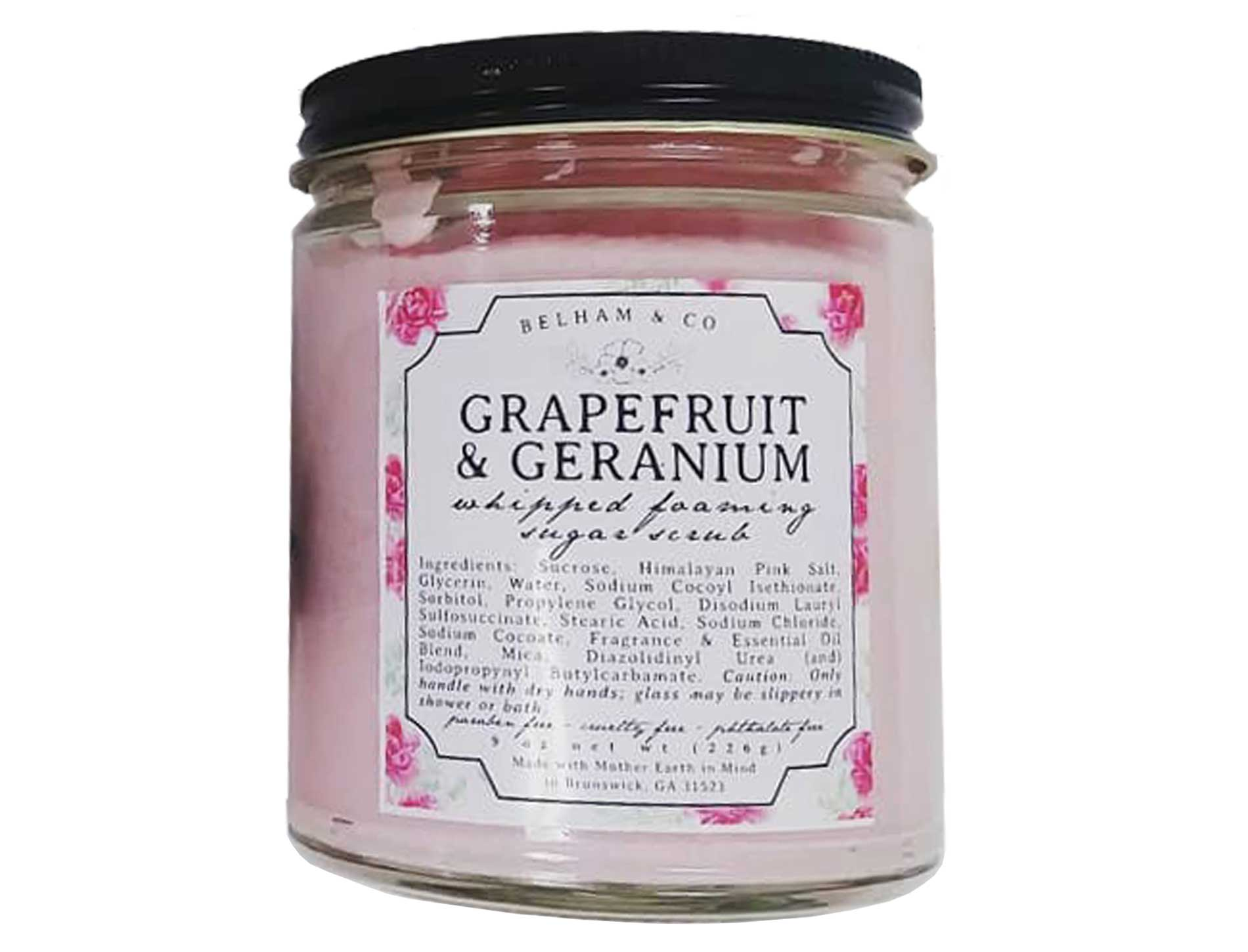 Geranium & Grapefruit Sugar Scrub - Good Soul Shop
