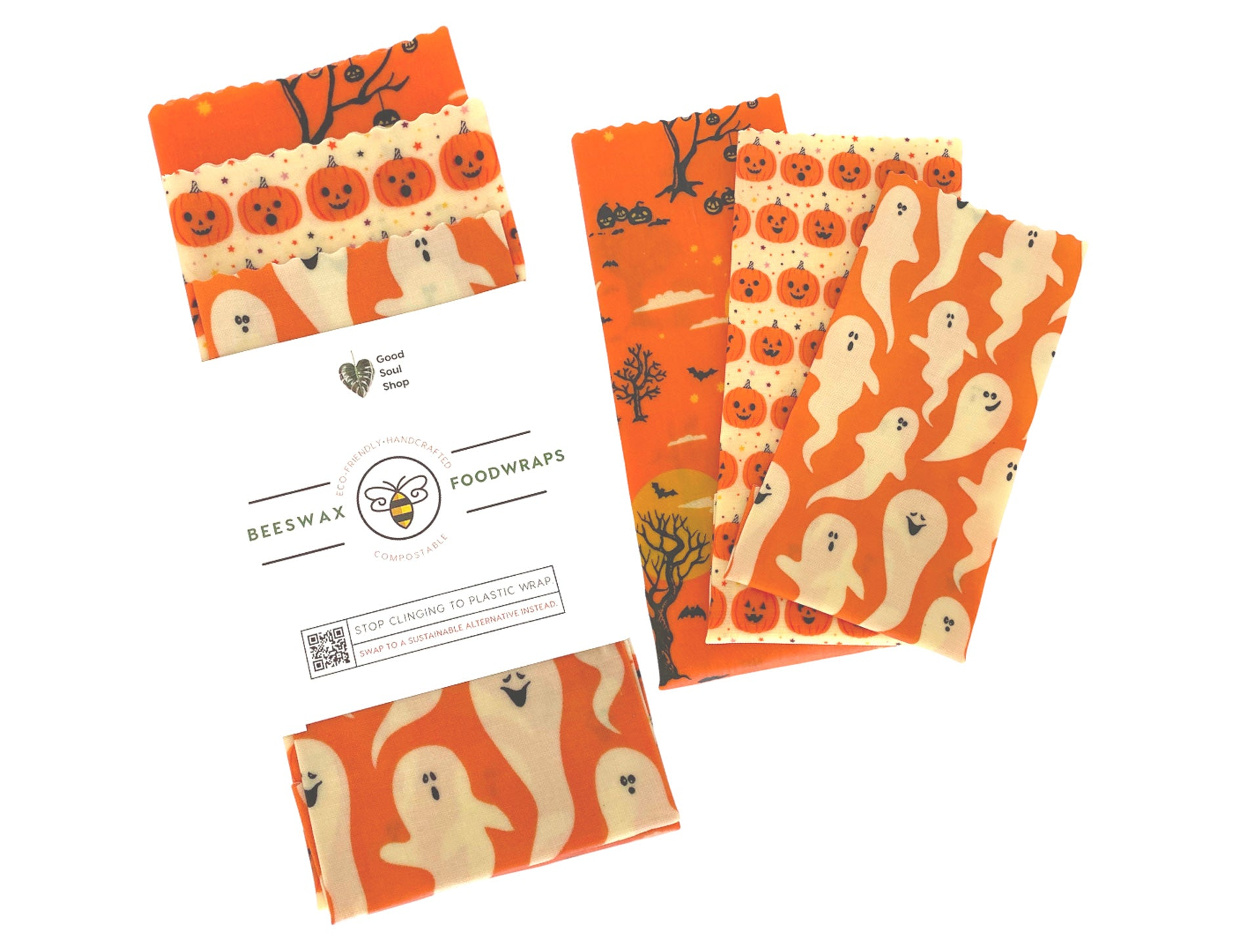 Jack-O-Lantern Beeswax Set - Good Soul Shop