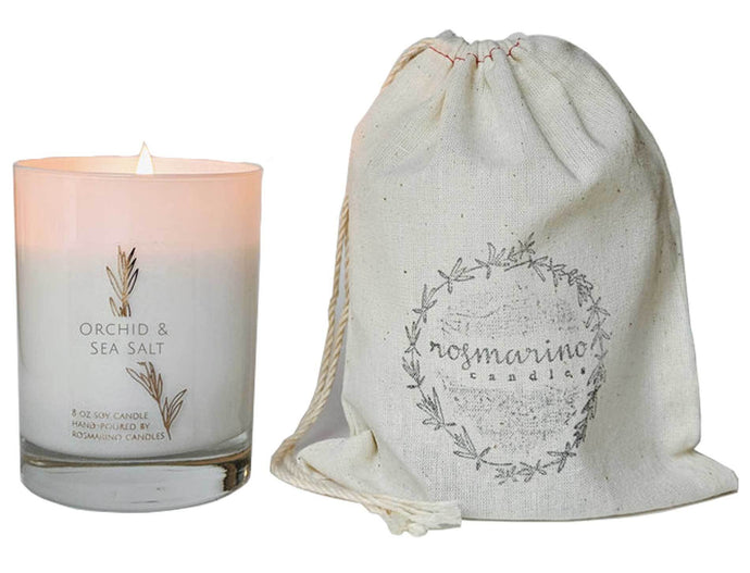Rosmarino Candles - Orchid and Sea Salt 9.5 oz Wood Wick Candle