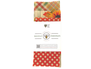 Pumpkin and Polka Dot Beeswax Set - Good Soul Shop