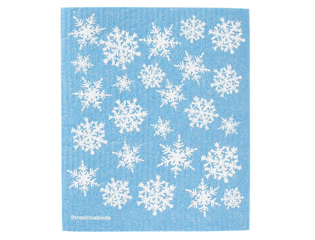 Snowflakes Swedish Dishcloth - Good Soul Shop