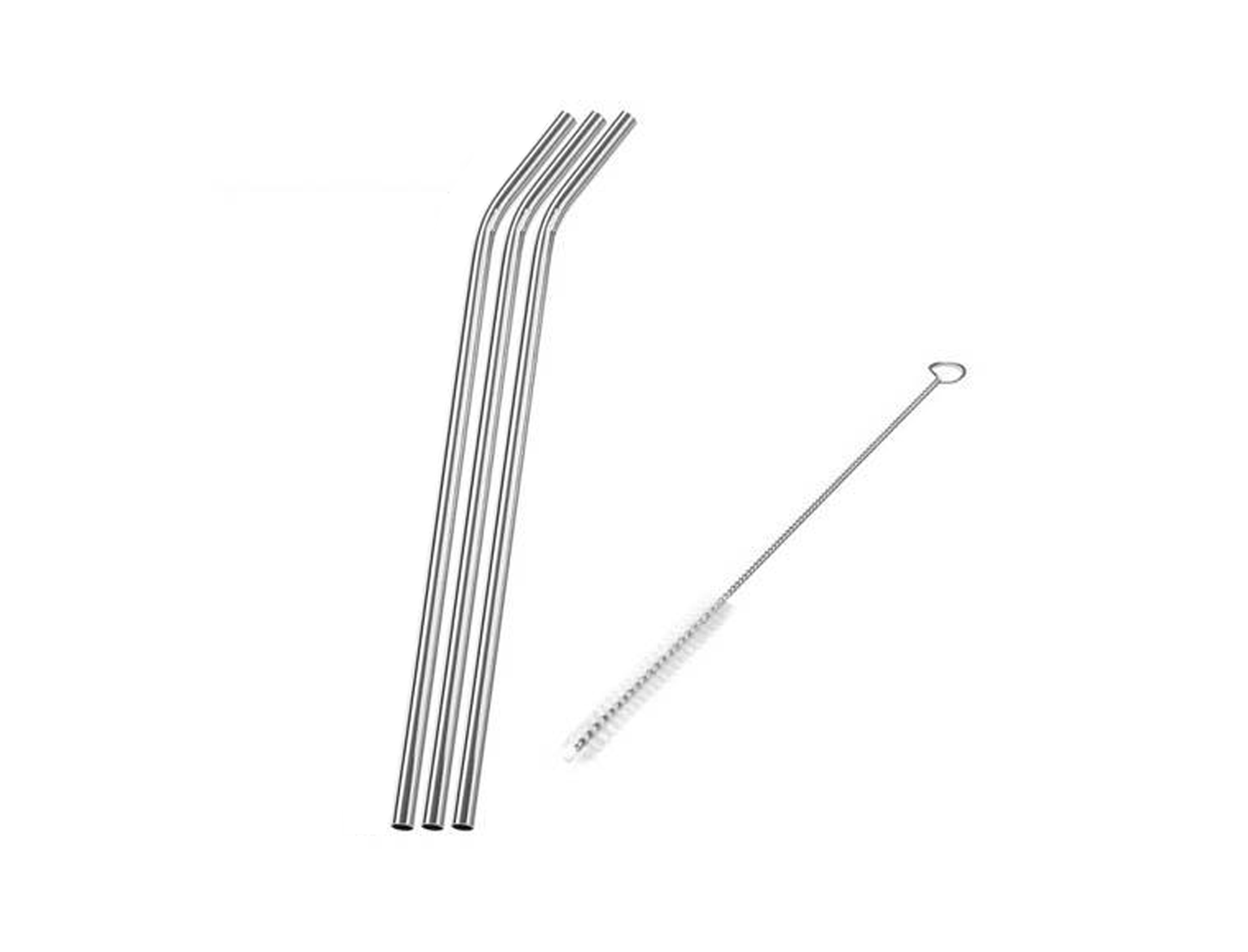 Stainless Steel Drinking Straws and Cleaning Brush - Good Soul Shop