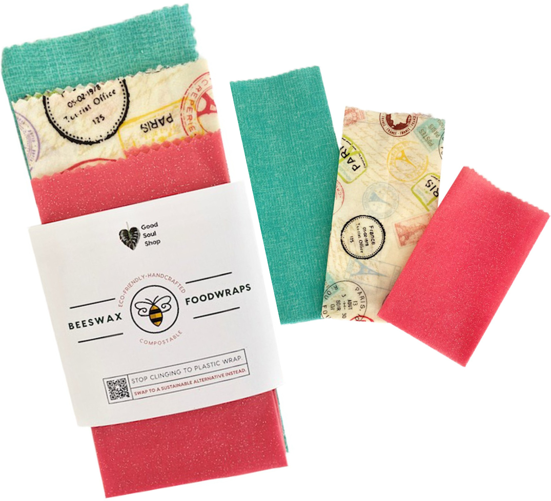 Beeswax Wrap Set of 3 - Paris - Good Soul Shop