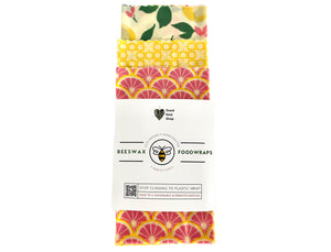 Beeswax Wrap Set of 3 - Yellow Lemonade - Good Soul Shop