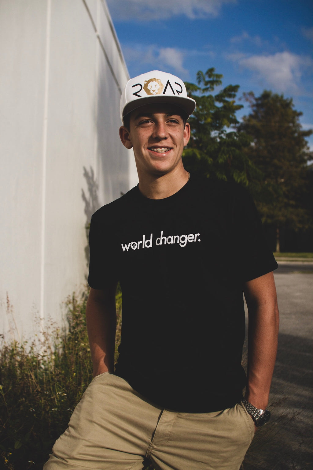 WORLD CHANGER - KIDS AND YOUNG ADULTS T-SHIRT *OPTIONAL COMBO ADD-ON WITH LIMITED EDITION MAX-ROAR FLATBILL