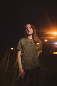GIVE EM HEAVEN - UNISEX OLIVE TEE