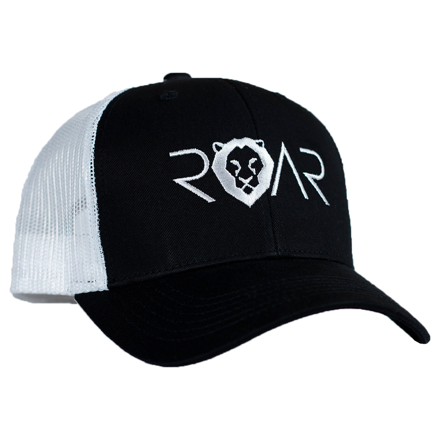 ROAR TRUCKER HAT - BLACK/WHITE