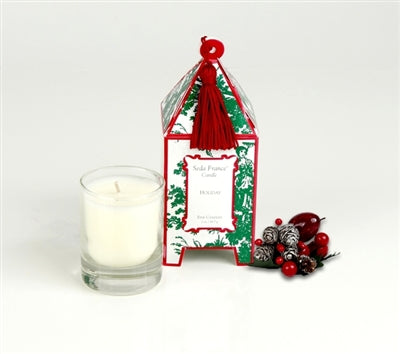 Holiday Classic Toile Mini Pagoda Box Candle