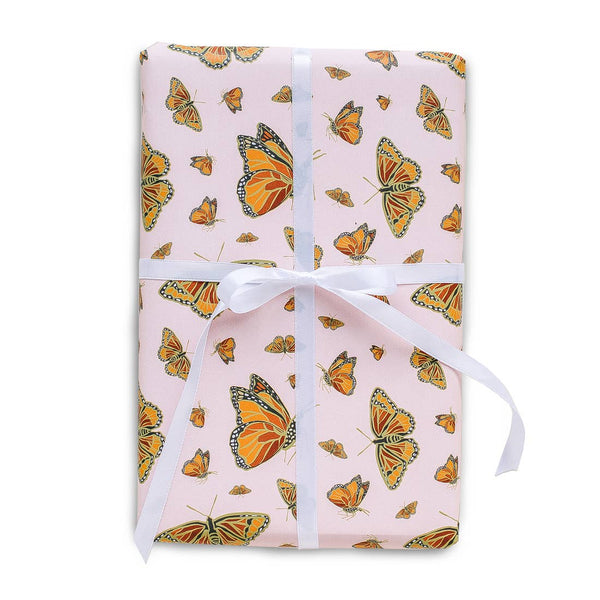 Monarch Butterfly Gift Wrap Wrapping Paper Rolls - S/3