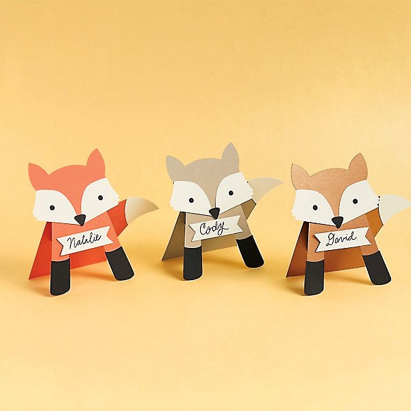 Fox Place Card Kit