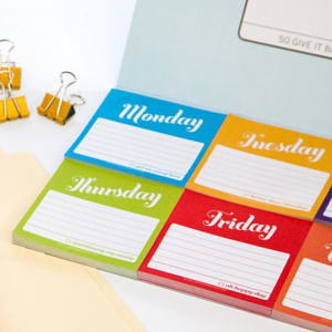 Days of the Week Sticky Notes Packet