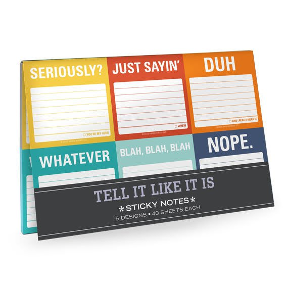 Tell It Like it is Sticky Notes Packet