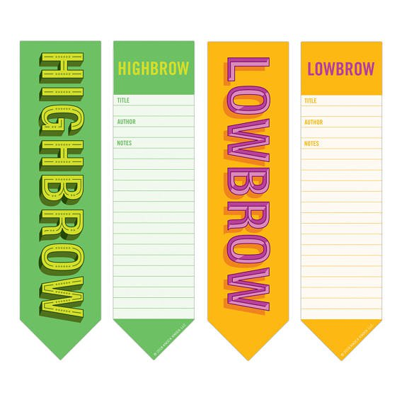 Bookmark Pad: High/Low Brow