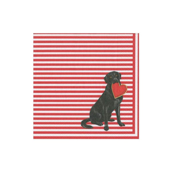 Puppy Love Paper Cocktail Napkins - 20 Per Package