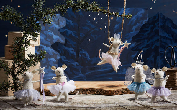 Ballerina Mouse Ornaments