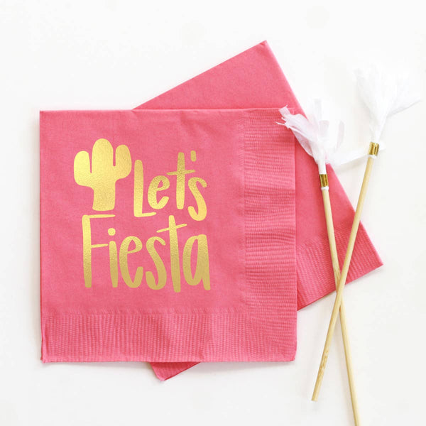 Let's Fiesta - Foil Cocktail Napkins