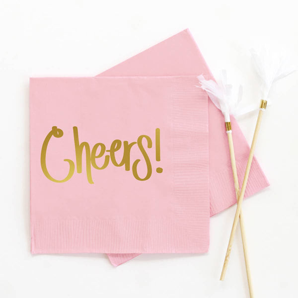 Cheers - Foil Cocktail Napkins