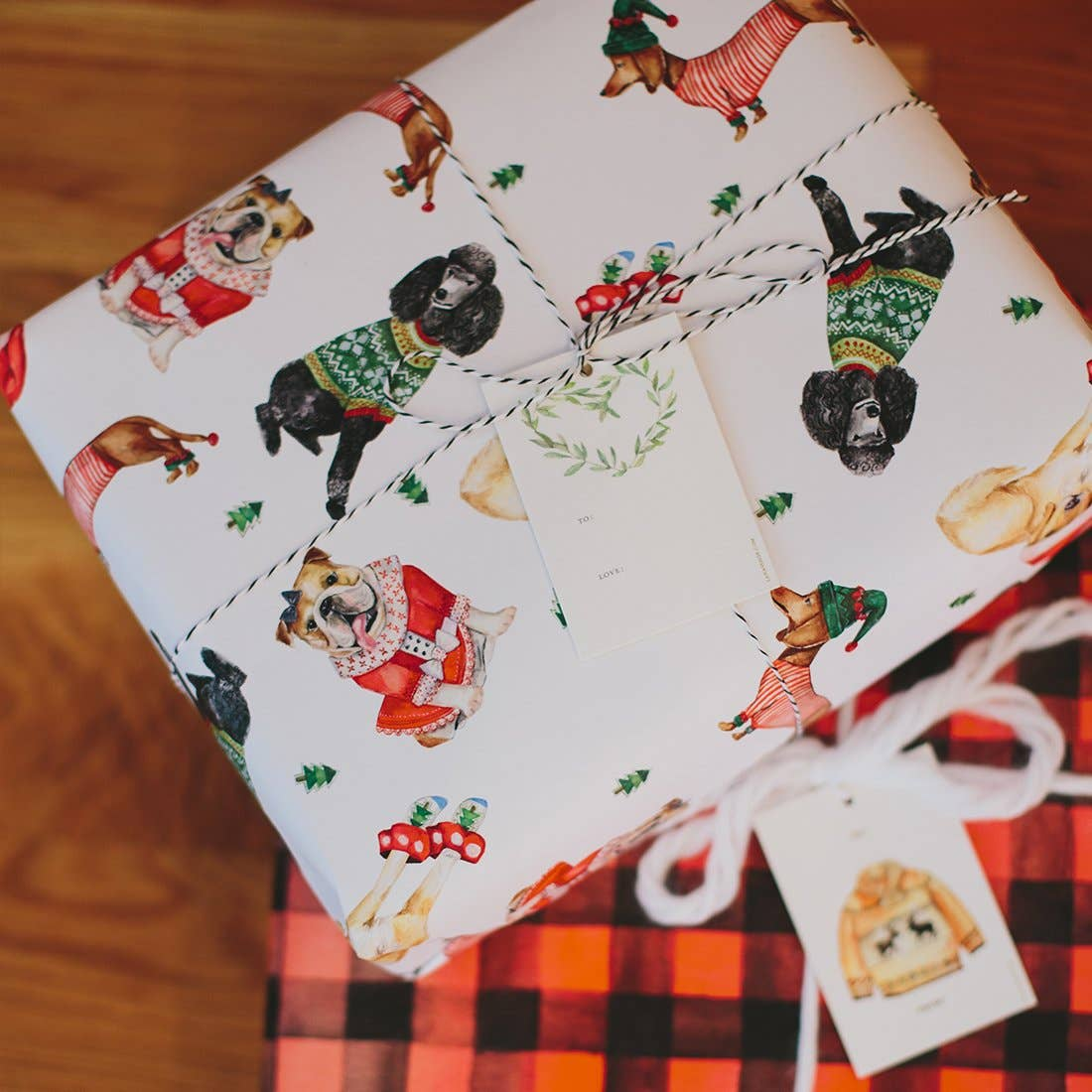 Holiday Dogs Gift Wrap Wrapping Roll - S/3