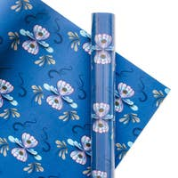 Skandia Wrapping Paper - Yuletide Blue Wrapping Paper Rolls - S/3