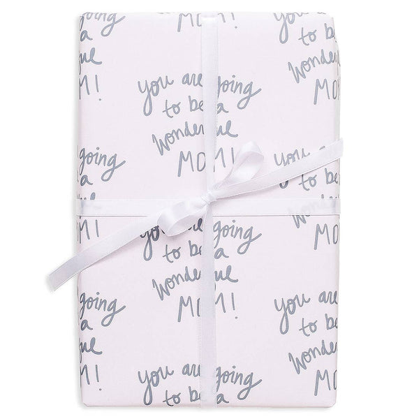 New Mom Gift Wrap Wrapping Paper Rolls - S/3