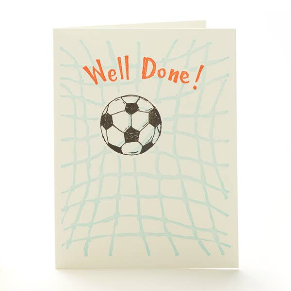 Soccer Well Done Notecard