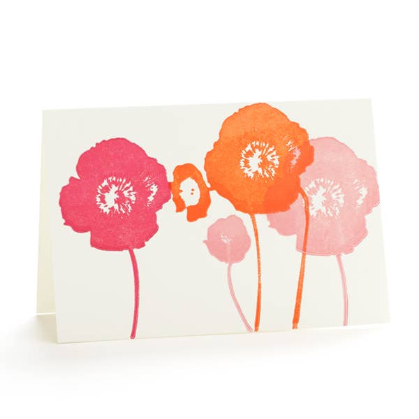 Four Poppies Notecard