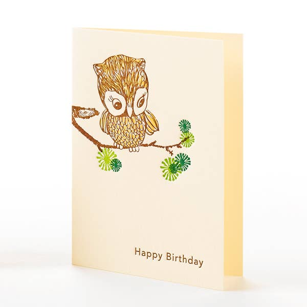 Owl Happy Birthday Notecard