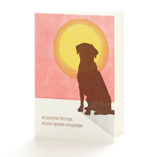 Dog Sympathy Notecard