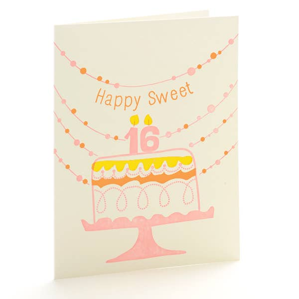 Sweet 16 Notecard