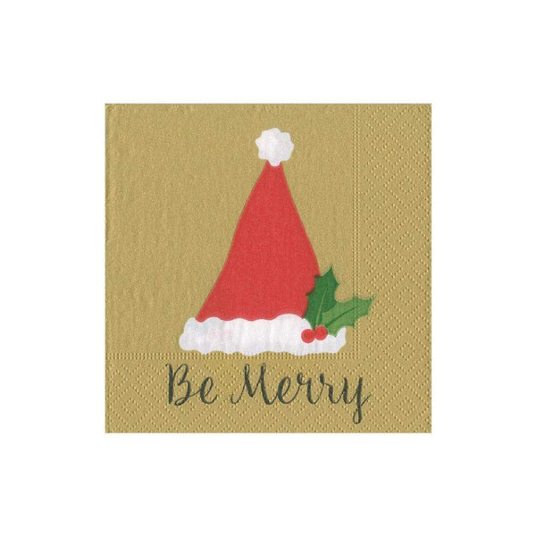 4 x Single Paper Napkins Christmas Gold Ornaments Cone Decoupage and Crafting 89