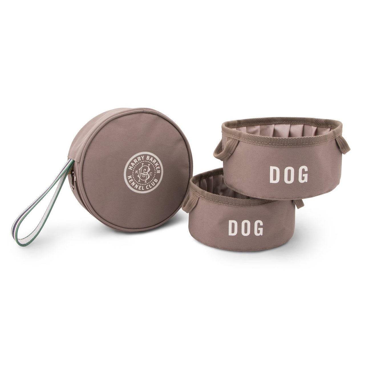 Kennel Club Fold-Up Travel Bowls and Pouch set
