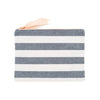 Chambray Stripe Pouch
