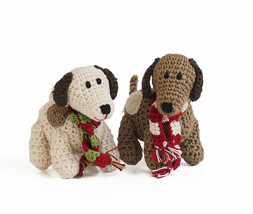 Crochet Spotted dog ornament