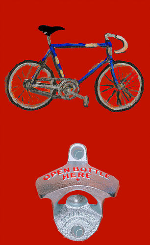 Red Bike Bottle Opener