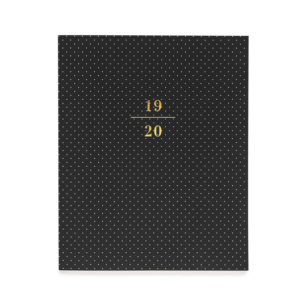 2019-2020 Academic Planner, Monthly Black Pin Dot